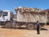 صور.. رفع تراكمات القمامة خارج الكتلة السكنية بطريق العنبر بالدقهلية