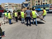 حملة أمنية لإزالة الإشغالات وإعادة الانضباط لمنطقة فيصل بالهرم