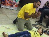 """مبادرة """"بينا مصر بكرة أحلى"""" تعلم أطفال دور الرعاية الإسعافات الأولية"""