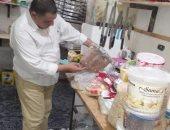 صور.. ضبط وإعدام 125 كيلو مواد غذائية بطور سيناء خلال حملة على الأسواق