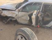 إصابة 3 أشخاص فى حادث تصادم سيارة مع توك توك على الطريق الزراعى جنوب بنى سويف