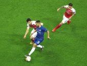 تشيلسي ضد أرسنال.. تعادل سلبى فى شوط أول مثير بنهائى الدوري الأوروبى