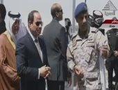"""السيسى يشاهد بقايا صواريخ """"حوثية- إيرانية"""" استهدفت السعودية"""