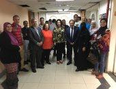 صور.. حفل إفطار جماعى لقطاع الأخبار فى الإدارة العامة للصحافة