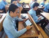 99 % حضور امتحانات أخر يوم للأول الثانوى بشمال سيناء