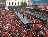 فيديو.. مدريد تكتسى باللون الأحمر قبل نهائي دوري الأبطال