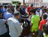 صور محافظ جنوب سيناء يفتتح ملعب خماسى لكرة القدم بمدينة ابورديس