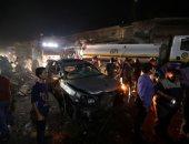 صور.. مقتل عشرة أشخاص فى انفجار سيارة بشمال سوريا