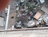 القمامة تحاصر المنازل فى شارع الشبراوى بالخلفاوى التابع لـ شبرا مصر