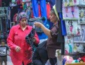 إقبال المواطنين على وكالة البلح قبل العيد