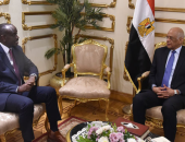 صور.. رئيس البرلمان يلتقى وزير خارجية روندا اليوم على هامش زيارته للقاهرة