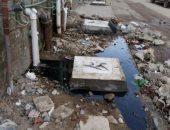 غرق شارع البوسطة فى الإسماعيلية بمياه الصرف.. والأهالى يطالبون بحل المشكلة