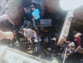 إصابة ربة منزل ونفوق 22 رأس ماشية بحريق التهم 3 منازل بجهينة فى سوهاج