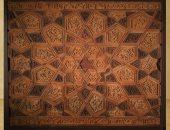 شاهد الفن الإسلامى.. جزء من تركيبة خشبية تعود للإمام الشافعى