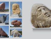 """افتتاح معرض """"نحت الصخور"""" لـ زكريا طه فى مركز محود سعيد للمتاحف"""