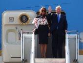 الرئيس الأمريكى يصل إلى مطار ستانستد