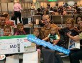 صور.. اقلاع أولى رحلات مصر للطيران إلى العاصمة الأمريكية واشنطن