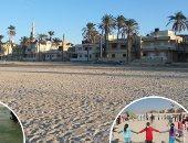 """صور.. شواطىء البحر المتوسط الاختيار الأول لأهالى شمال سيناء فى العيد.. حجوزات مسبقة للشاليهات.. والأجهزة التنفيذية تنظم حملة نظافة موسعة لـ 9 شواطىء بـ """" العريش وبئر العبد """""""
