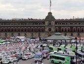 إضراب سائقى التاكسى يشل شوارع مكسيكو سيتى بسبب شركة خدمات النقل الذكى