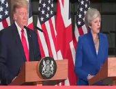 مسؤول بريطانى: ماى وترامب لا يعتزمان بحث الخلاف الدبلوماسى المتصاعد بينهما