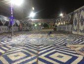 """صور.. تجهيز ساحة مسجد """"عمر""""  ببنى سويف استعدادا لصلاة عيد الفطر"""