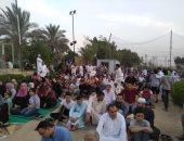 صور .. المواطنون يؤدون صلاة عيد الفطر بساحة مسجد الحصرى بـ 6 أكتوبر