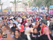 بالبلالين وركوب الخيل.. الأطفال يحتفلون بعيد الفطر بجامعة الدول العربية