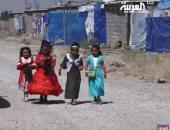 شاهد.. كيف يعيش أطفال المخيمات العراقية العيد وما هى أمنياتهم