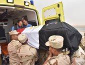 """سكرتير مساعد أسيوط يشارك بجنازة الشهيد """"أبانوب"""" أحد شهداء كمين العريش"""