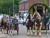 القوافل تتجه إلى مدينة كمبريا.. شوف أكبر معرض للخيول بأوروبا × 14 صورة