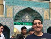إسلام ياسر.. يشارك بصوره له وشباب من جنسيات مختلفة بروسيا: مصر فى خاطرى