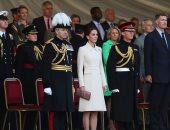 صور.. كيت ميدلتون تشاهد عرضا عسكريا فى لندن