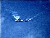صور.. البحرية الأمريكية: مدمرة روسية كادت تصدم طرادا أمريكيا فى بحر الفلبين