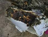 قارئ يشارك بصور لحريق شب داخل منزل بمركز السنطة بالغربية