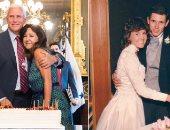 صور.. نائب الرئيس الأمريكى يحتفل بمرور 34 عاما على زواجه