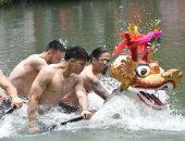 صور .. انطلاق سباق قوارب التنين السنوى فى هونج كونج