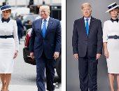 يخلق من الشبه أربعين.. شاهد شبيهة ميلانيا ترامب وفى أزياء متماثلة