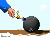 كاريكاتير الصحف السعودية.. الجزيرة القطرية تشعل فتيل الأزمة السودانية