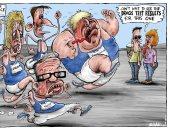 كاريكاتير: بدء سباق المحافظين لخلافة تيريزا ماى .. المخدرات كلمة السر
