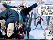 """اعتراف مرشحى """"المحافظين"""" بتعاطى المخدرات يطغى على كاريكاتير الصحف البريطانية"""