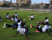 شاهد.. تدريبات منتخب تنزانيا في المركز الأولمبى استعدادًا للفراعنة