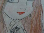 ندى عمرها 12 عاما تشارك بموهبتها فى الرسم وتحلم بالفنون الجميلة