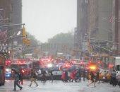 إخماد حريق اصطدام مروحية بمبنى فى مانهاتن