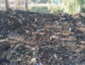 شكوى من تحويل سيارات جمع القمامة مزلقان فى القليوبية إلى مقلب عمومى