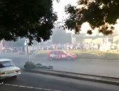 فيديو.. متسابق يدهس الجمهور بسيارته خلال سباق رالى فى المجر