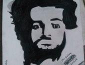 """منة تشارك بلوحات من الرصاص لمحمد صلاح وأمير كرارة """"صور"""""""