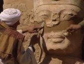 تداول صورة ترميم تمثال عمرها 14 عاما.. والآثار توضح