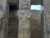 ننشر صورة حديثة لتمثال الكرنك بعد زعم نشطاء التواصل الاجتماعى ترميمه بالأسمنت