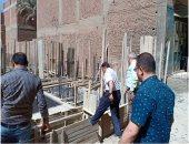 إزالة 4 عقارات مخالفة و اشغالات طريق وسط الإسكندرية