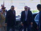 لحظة وصول الرئيس السيسى لمقر انعقاد المنتدى الأفريقى لمكافحة الفساد